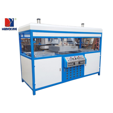 Semi-automatic double stations plastic forming machine
